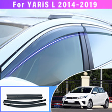Sun Rain Deflector Side Window Deflector Car Styling For Toyota YARIS L Hatchback 2014 2015 2016 2017 2018 2019 Auto Accessories