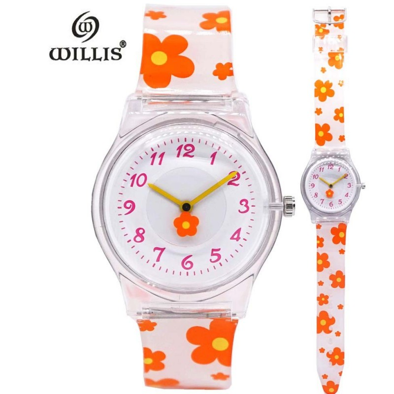New Arrival Girly Korean Harajuku Elegant Flower Design Kids Women Watch Children Quartz Silicone Wrist Watches Clock Relogio