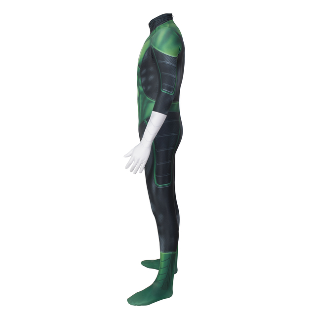 Movie Green lantern Cosplay Costume Lycra Spandex Haloween Custome Zentai Swimming GYM Bodysuit Jumpsuits for Adult