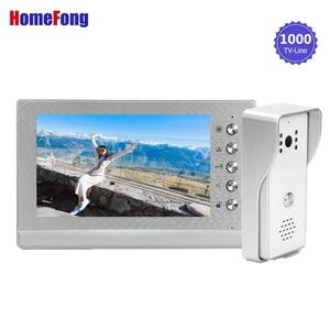 Image 2 - Видеодомофон Homefong, дверной звонок, камера, проводная система разблокировки, Поддержка блокировки (не входит в комплект), водонепроницаемость, дневное ночное видение
