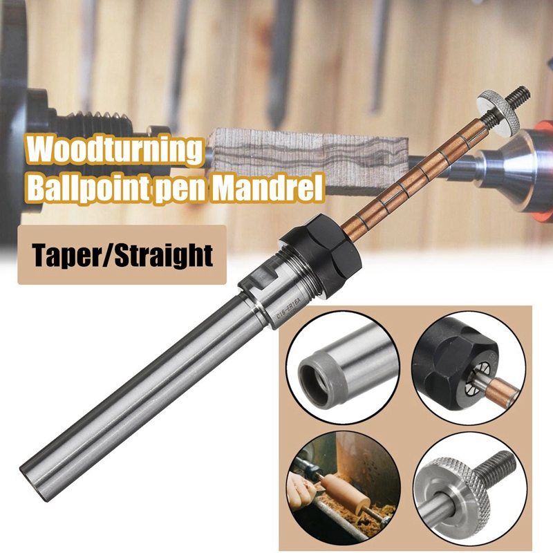 Pen Mandrel Taper Straight Shank Rotarys Top Tool DIY For Lathe Machine Parts Professional Revolving Centre Durable Clip Wood Turning Accessories Steel Straight Shank