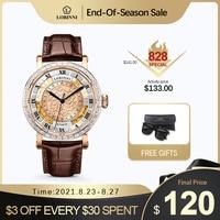 Reloj de pulsera de lujo suizo para hombre, reloj mecánico vintage, diseño original, resistente al agua, masculino