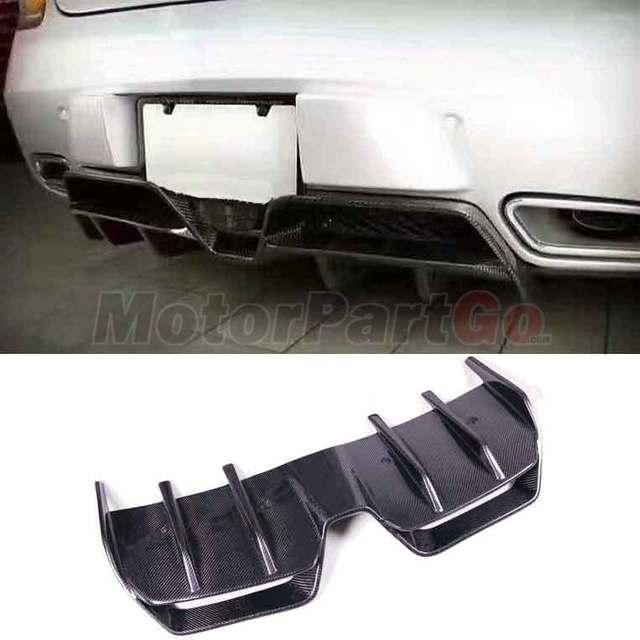 Renntech Style Carbon Fiber Rear Bumper Lip Spoiler Diffuser For Mercedes BENZ SLS R197 AMG  bodykit  M186 2
