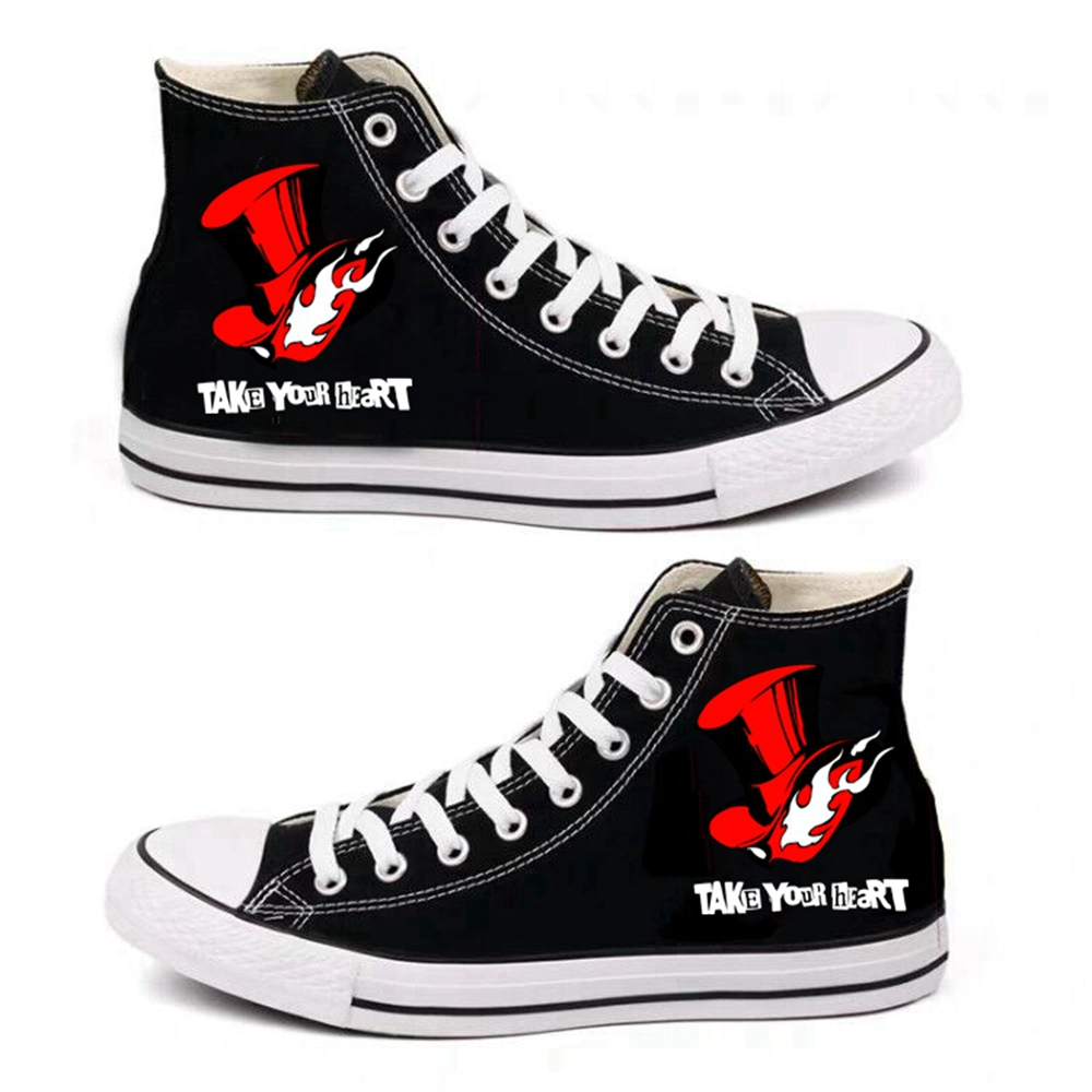 Anime  Persona 5 Cartoon Cosplay Canvas Shoes Leisure high-top Shoes Men Women Costume Hip Hop Canvas Shoes