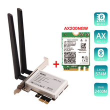 Desktop PCI E 1X Wireless Converter With 2400Mbps Network Card For Intel AX200 Bluetooth 5.0 for Window 10 Laptop