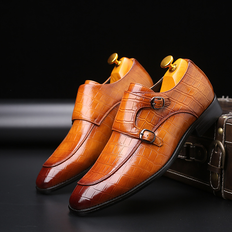 Men's Brand Leather Formal Shoes Dress Shoes Oxfords Fashion Retro Shoes Elegant Work Pointed Toe Footwear Drop Shipping Zapatos
