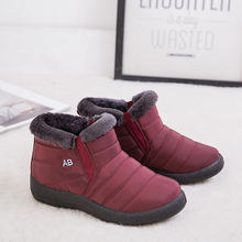 Женские ботинки водонепроницаемые зимние женские короткие плюшевые
