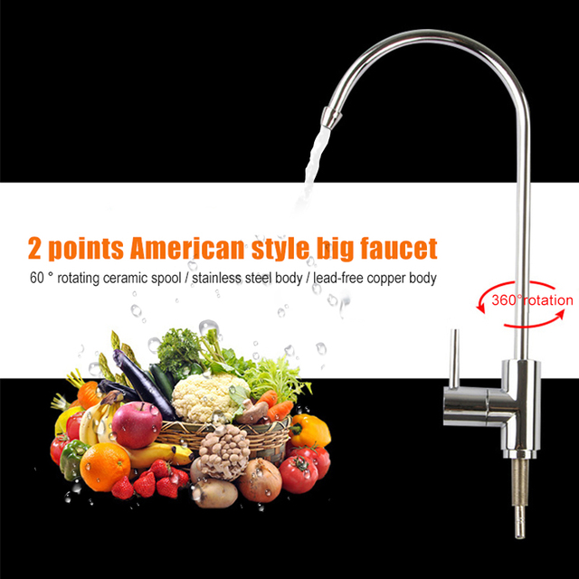 Faucet Tap 360 Degree Rotatable Stainless Steel Modern Smooth for Home Kitchen Sink HUG-Deals