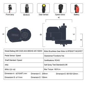 Image 4 - 48V52V1000W Bafang BBSHD Ebike Elektrische Fahrrad Center Motor 8fun Mitte Antrieb Conversion Kit MM.G 320,1000 10AH/14AH/17AH Samsung