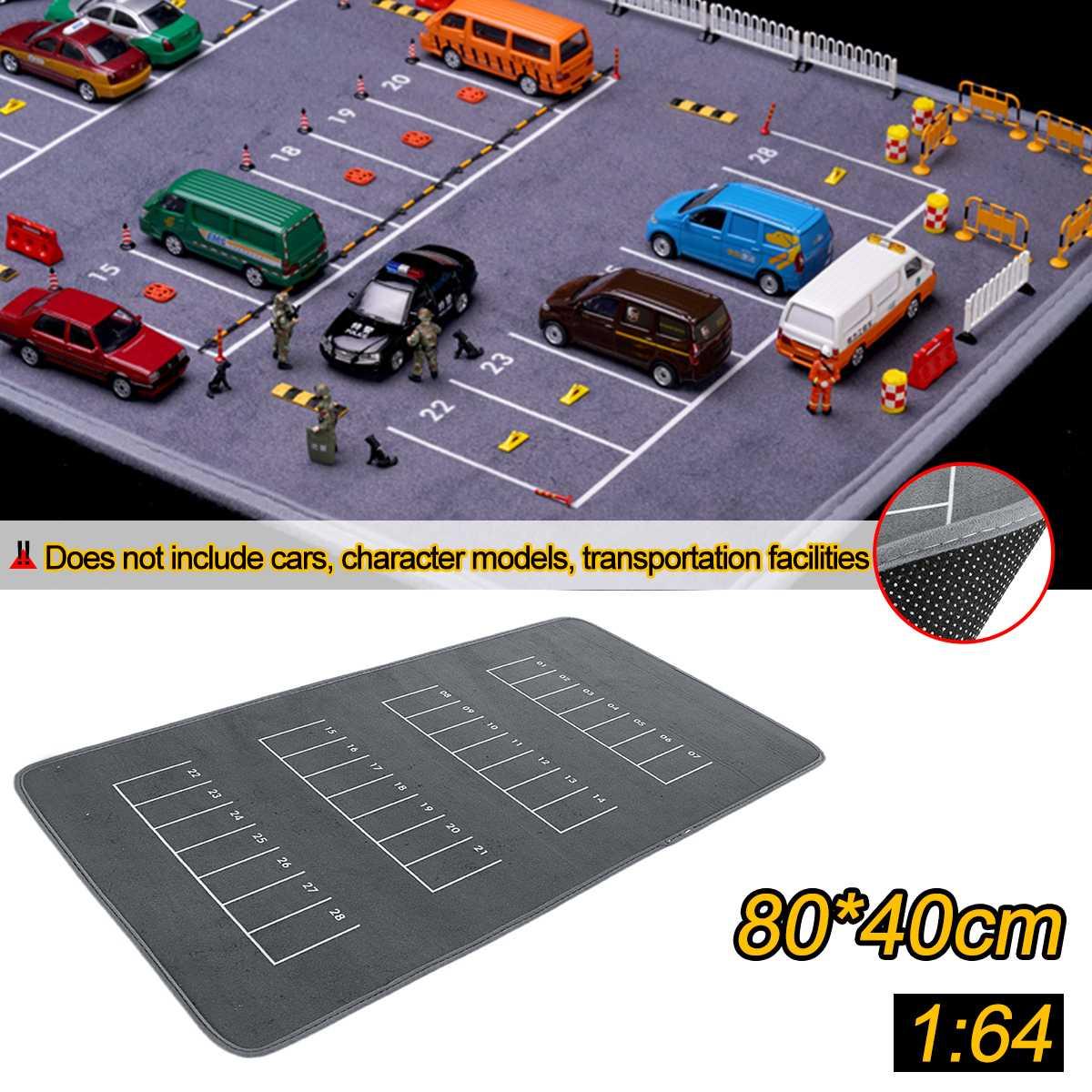 80x40cm 1/64 Anti-slip Rubbe Parking Pad Car Model Scene Road Game Pad For Desktop PC Laptop Computer Model Car