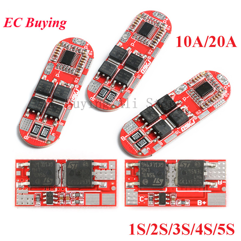BMS 1S 2S 10A 3S 4S <font><b>5S</b></font> 20A 25A <font><b>18650</b></font> Li-ion Lipo Lithium Battery <font><b>Protection</b></font> Circuit Charging Board Module PCB PCM Lipo Cell PCB image