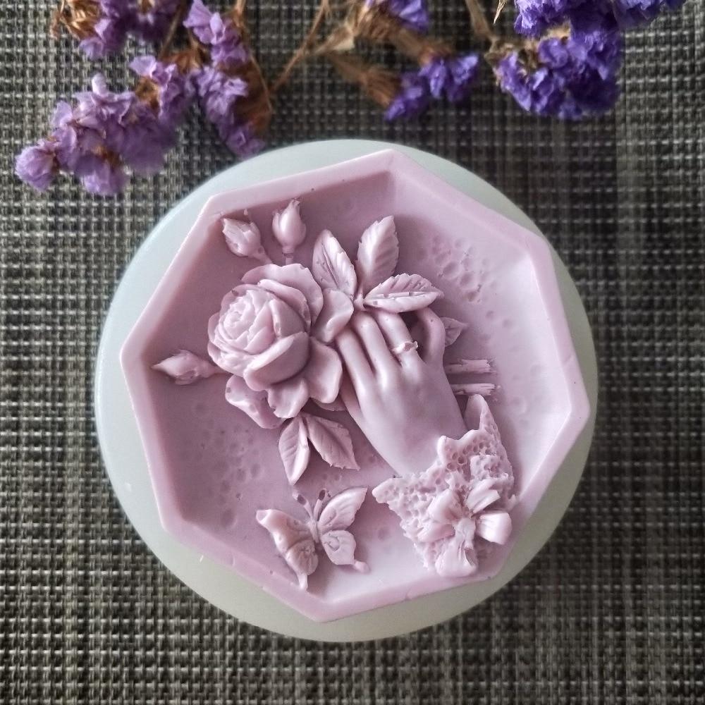 molde de gesso chocolate vela doces molde