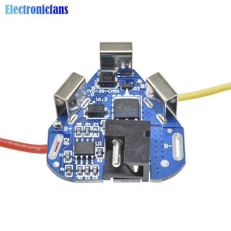 3S 12.6V 6A BMS Li-ion Lithium batterie Protection conseil 18650 batterie externe équilibreur batterie égaliseur conseil pour perceuse électrique