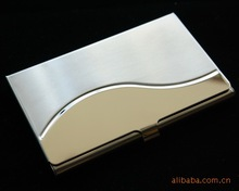 Arc layering mens and womens stainless steel business card case fashion holder ultra thin