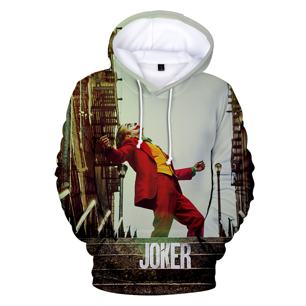 Joker Origin Movie Joker 2019 Joaquin Phoenix Arthur Fleck 3D Print Hooded Sweatshirt Men/Women Casual Hip Hop Hoodies Clothes