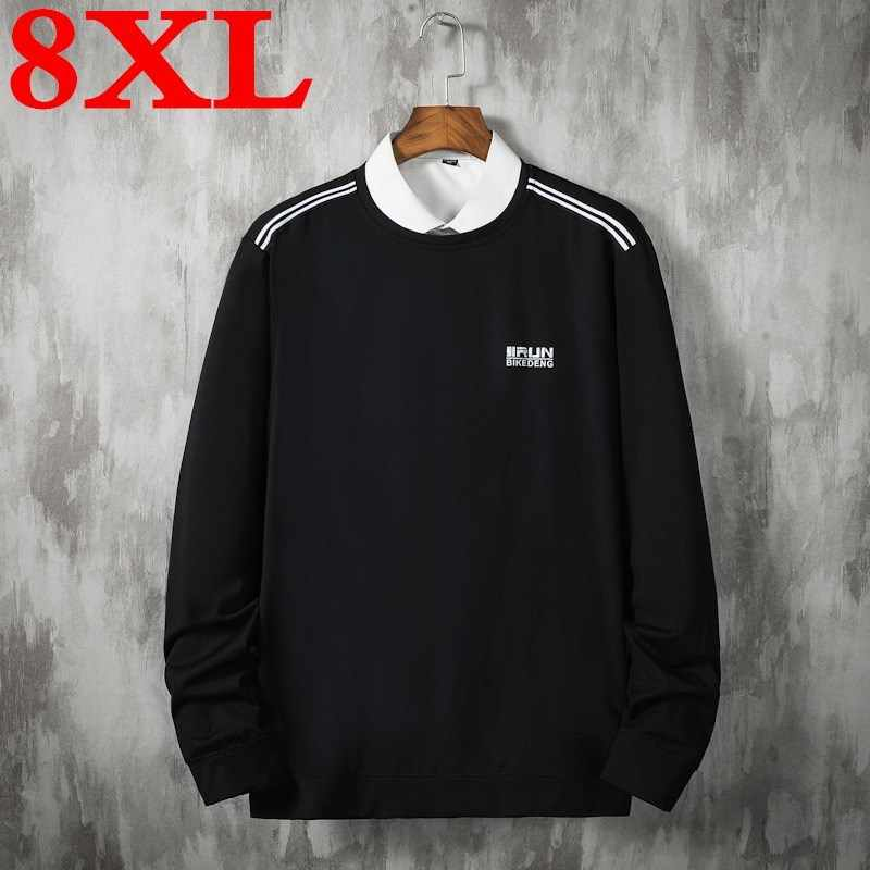 2020 big plus size 8XL 7XL Mens loose hoodies Pink Black color hoodies breathable cotton sweatshirts casual outwear soft clothes