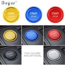 Ceyes для Peugeot 5008 3008 408 508 2008 308 4008 кнопки запуска и остановки зажигания