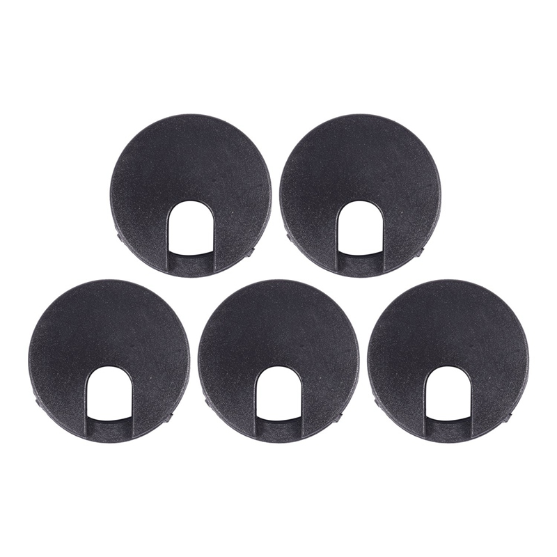 5 Pcs Computer PC Desk 35mm Dia Flip Grommet Cable Hole Cover