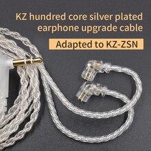 CCA KZ ZSN Earphones Silvers Cable Zsn Pro Plated Upgrade Cable 2pin Gold-plated Pin 0.75mm for  KZ ZSN Pro zs10 pro KB06 KB10 kz zs10 4ba 1dd hybrid in ear earphone hifi running sport earphones earplug headset earbud for zs3 zsn pro s1 s2 zs10 pro