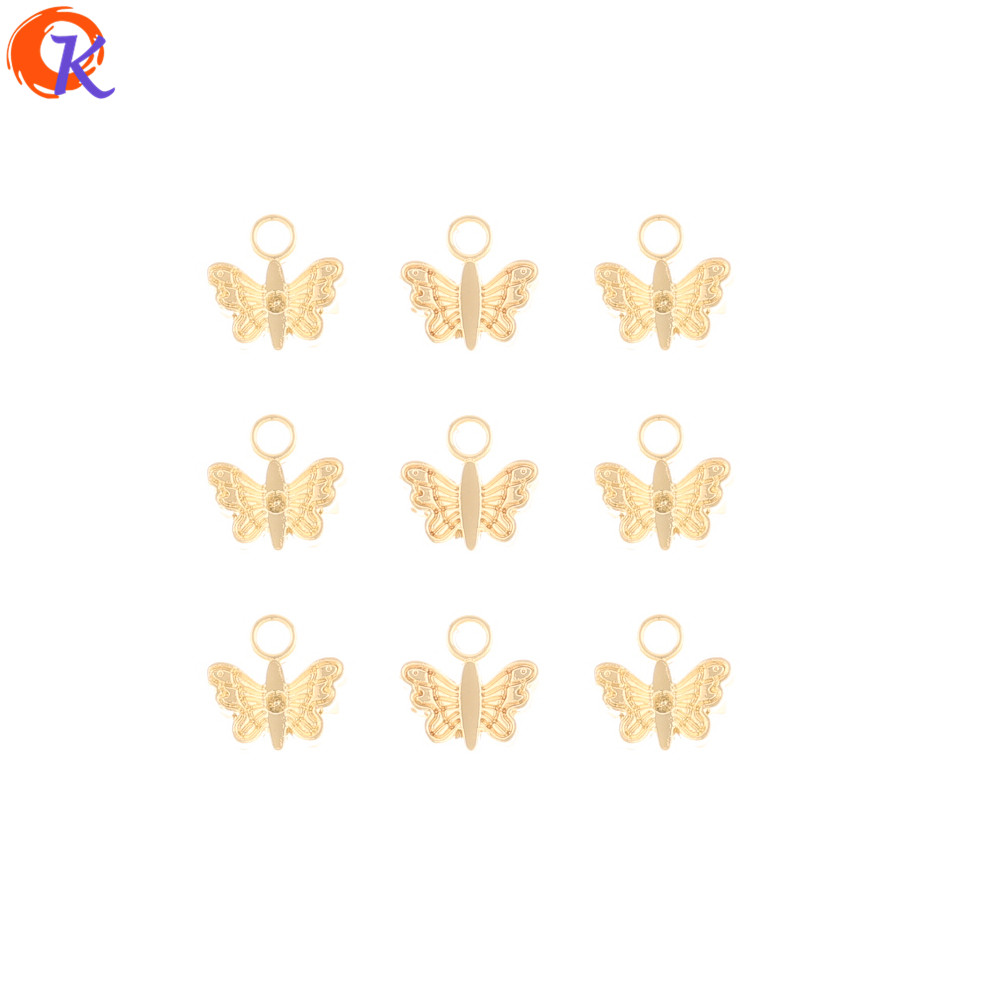 Cordial Design 200Pcs 9*9MM Jewelry Accessories/Earrings Connectors/Charms/Butterfly Shape/Hand Made/DIY Making/Earring Findings