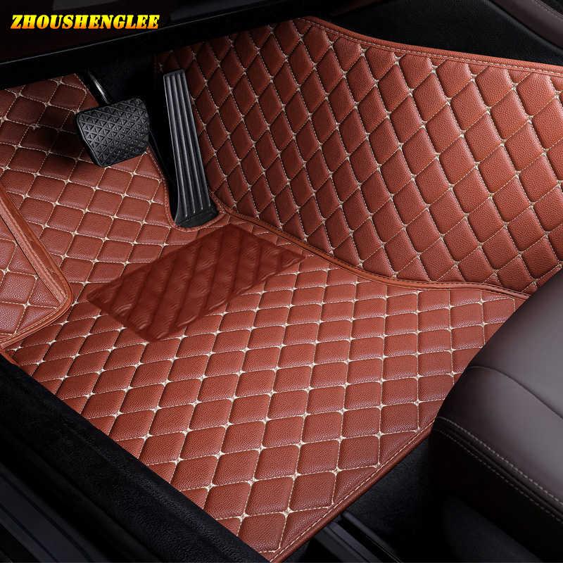 Zhoushenglee Personalizzato tappetino auto per smart tutti i modelli fortwo forfour forjeremy auto-styling Personalizzato piano auto stuoie Viola /rosso