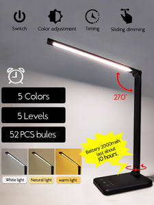 LAOPAO Desk-Lamp Timer Night-Light Level-Touch Chargeable Dimable Reading LED USB 52PCS