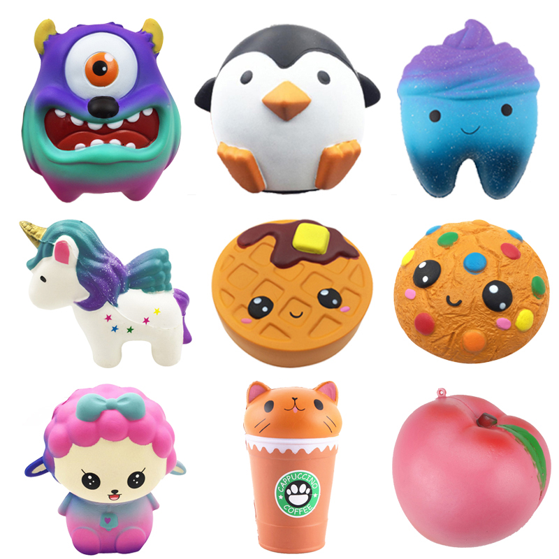 Squishy Toy Cake Unicorn Watermelon Strawberry Fruits Ice Cream Monster Penguin Slow Rising Antistress Birthday Gift Kids Toys