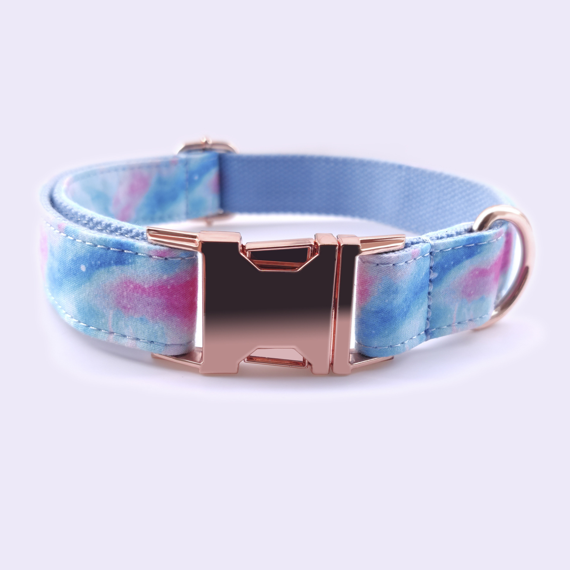 Pet Collar Hot Selling Dog Neck Ring Fashion Rose Gold Zinc Alloy Buckle Can Carve Writing Dog Collar