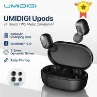 UMIDIGI Upods TWS auriculares inalámbricos Bluetooth 5,0 auriculares estéreo con reducción de ruido deportivo Mic con caja de carga auriculares