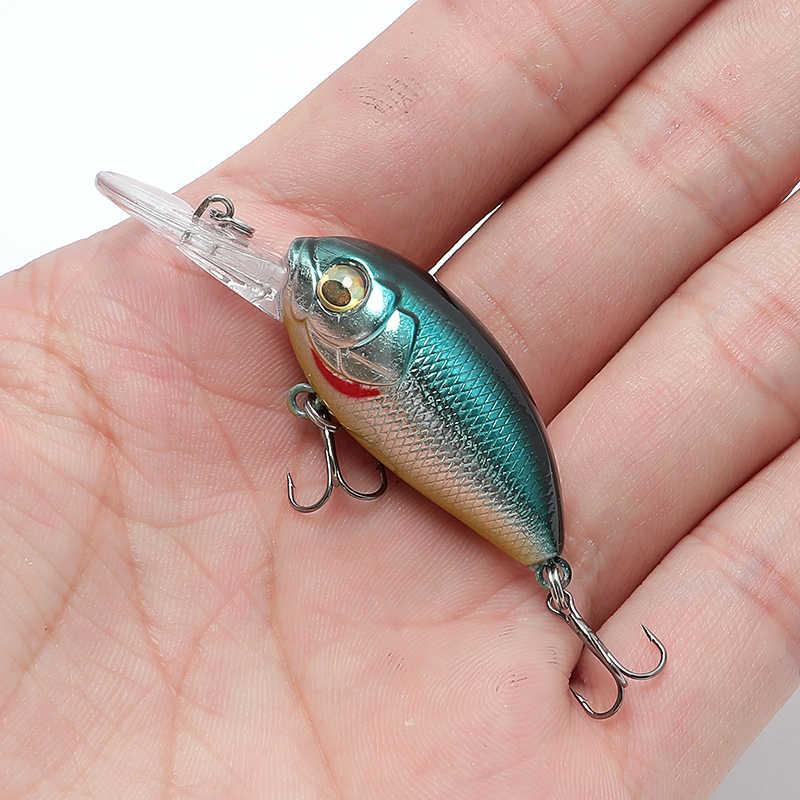 4.8 グラム低音ミニクランクベイトルアーロックルアートップウォータークランクジャークベイト人工ハード餌魚wobblers