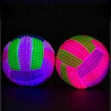 Crianças brinquedo luz-up voleibol bouncy bola voleibol luminoso saltando bola led voleibol piscando luz acima saltando ouriço