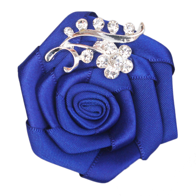 WifeLai-A 1pcs/lot Groom bride corsage rose wedding corsage Crystal Wedding Boutonnieres Flower Groom Groomsman Brooches XH0038