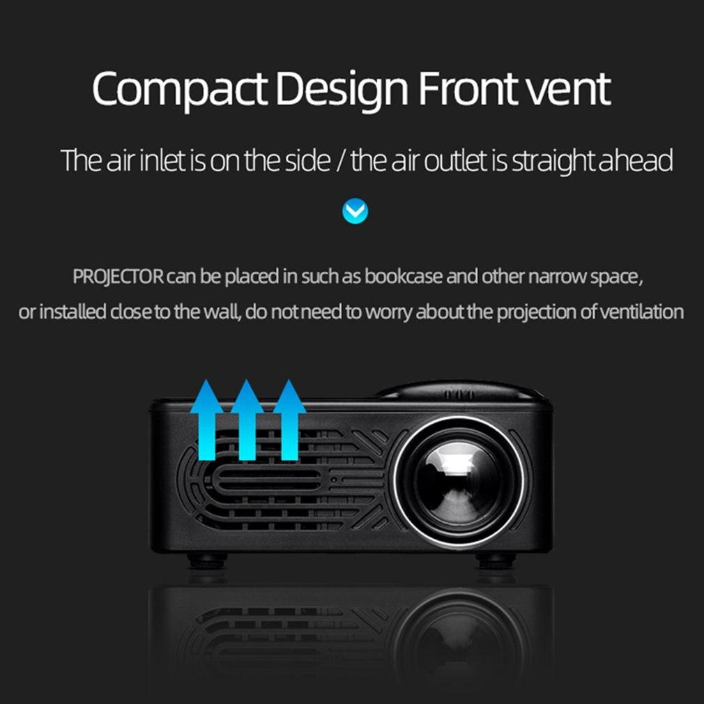 814 mini mini projetor de entretenimento em casa portátil suporta 1080p 4k hd conexão do telefone móvel projetor-4