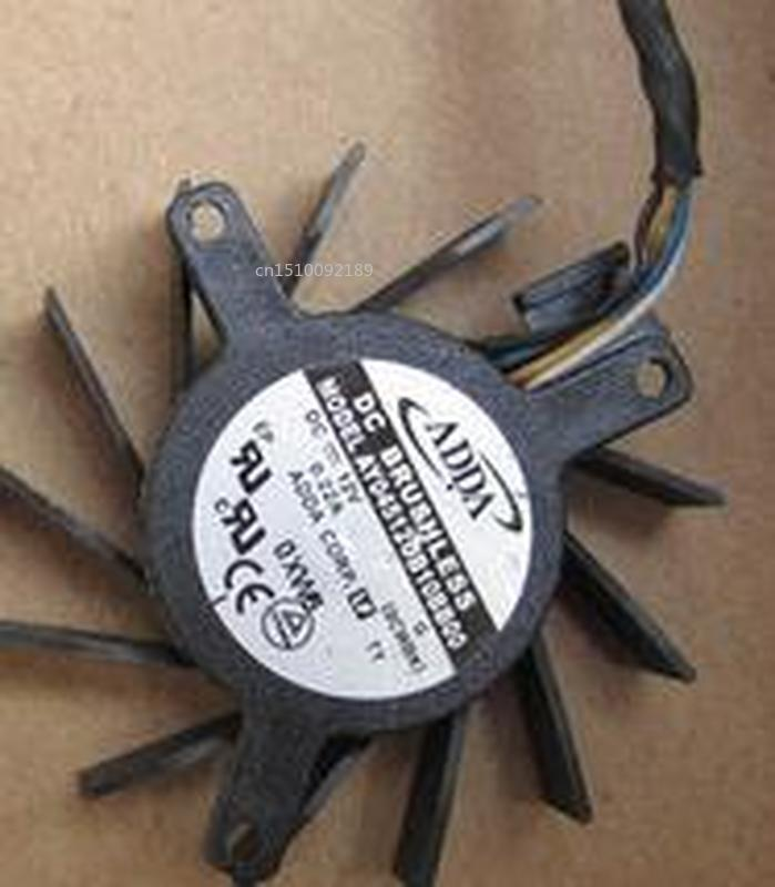 For AY04512UB10BB00 12V 0.22A Hole Distance 3.4-3.4-2.6 Diameter 4.4cm Four-wire Card Fan Free Shipping