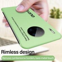 Ultra-dünne Randlose Matte Harte PC Telefon Fall Für Huawei Mate 30 20 X P40 P30 P20 Lite Ehre 8X Pro Bunte Painted Matt Abdeckung