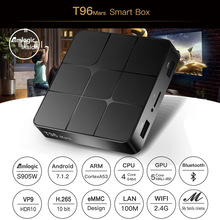 T96 TV BOX 4K S905W Android TV Box Android7.1 Smart Set Top BOX Quad Core Smart TV BOX H.265 3D Media Player For HDMI IPTV цена и фото