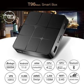 T96 TV BOX 4K S905W Android TV Box Android7.1 Smart Set Top BOX Quad Core Smart TV BOX H.265 3D Media Player For HDMI IPTV mxqpro smart tv box android 7 1 amlogic s905w 2gb 16gb hdmi h 265 4k top box wifi bluetooth set top box media player pk h96 x96