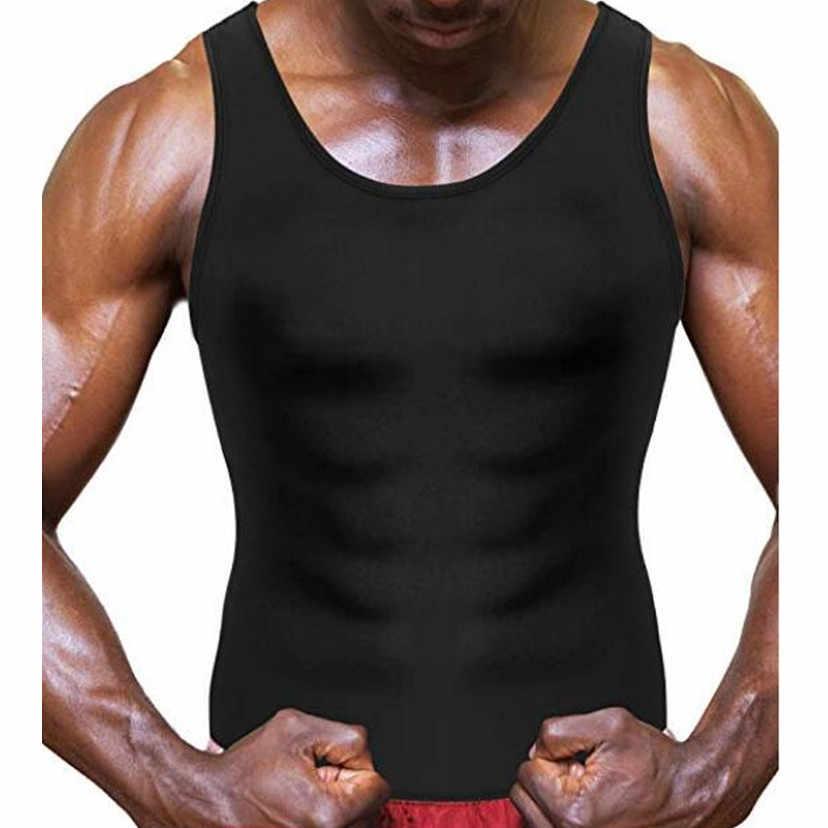 2019 الرجال النيوبرين تانك القمم ملابس داخلية رجالي محدد شكل الجسم قميص ساونا قمصان ثقيلة الذكور بوديالمشكل اللياقة البدنية المصارعة الفردي