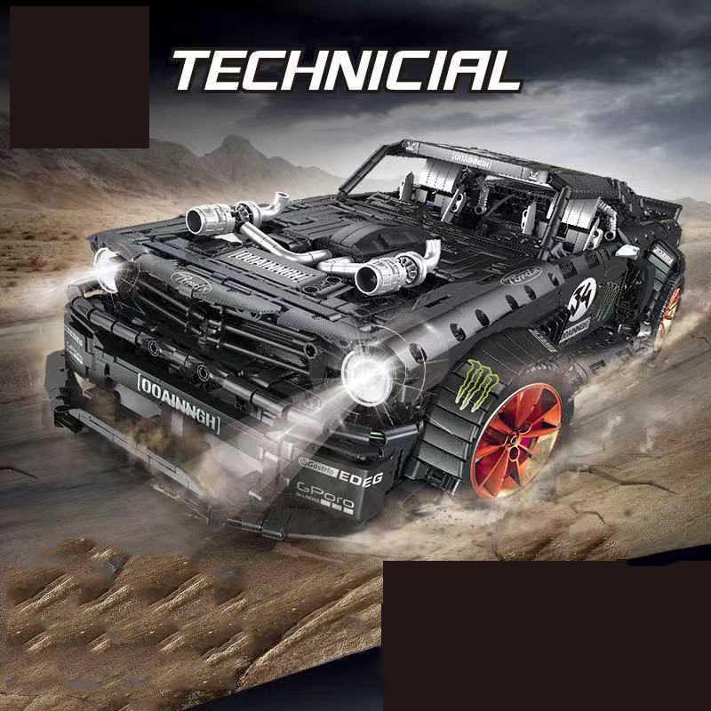 Cruzar MOC-22970 Mustanged lepinblocks Compatible Legoed bloques de construcción técnica Super Motor de coche de carreras de juguetes de ladrillo