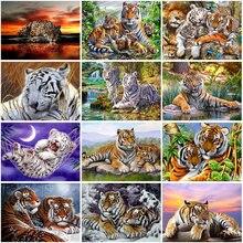 Tiger DIY 5D Diamond Painting Full Square/Round Drill Animal Diamont Embroidery Cross Stitch Resin Mosaic Handmade Gift