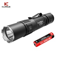 2020 KLARUS XT2CR Rechargeable LED Flashlight CREE XHP35 HD E4 Powerful Police Flashlight 1600 LM with 18650 Battery for Hiking