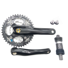 Shimano Alivio FC M410 bisiklet aynakol 8s 24s MYB bisiklet kare krank seti 42T 22 32 42T 170mm UN26 alt braket