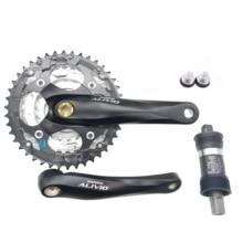 Shimano Alivio FC M410 אופני crankset 8s 24s MYB אופניים כיכר קראנק סט 42T 22 32 42T 170mm עם UN26 סוגר תחתון