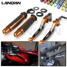 цена For KTM Duke 125 200 250 390 Duke Motorcycle CNC Brake Clutch Lever & 7/8 22MM Handlebar Grips RC125 RC200 RC390 Accessories