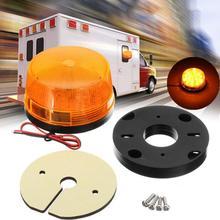 цена на 12V-24V Flashing Strobe Beacon Emergency LED Warning Light Car Auto Amber Lamp