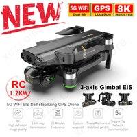 XCZJ KAI ONE-Dron con GPS, 8K, 6K, 4K, cámara HD, de 3 ejes cardán, profesional, antivibración, fotografía, Quadcopter plegable sin escobillas