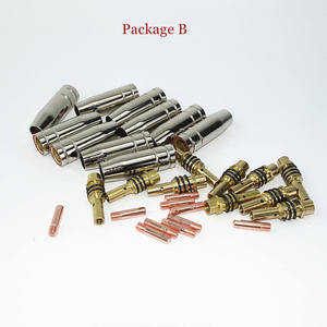 Image 2 - 15AK Torch Lassen Verbruiksartikelen Eu Stijl 180A Mig Torch Gas Nozzle Tips Houder Gun Hals Wrench Voor Mig Lasmachine