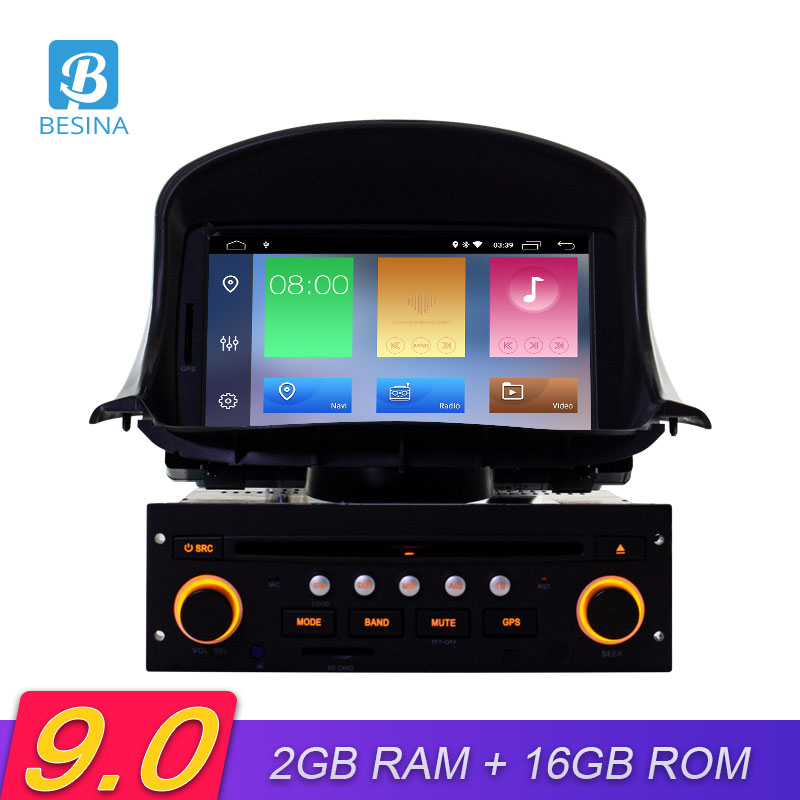 Besina 1 Din <font><b>Android</b></font> 9.0 Car DVD Player For <font><b>Peugeot</b></font> <font><b>206</b></font> 206CC Multimedia Autoaudio GPS Navigation Radio Stereo WIFI RDS 1024*600 image