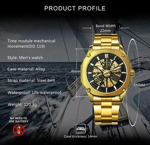 Image 2 - Vencedor oficial do vintage relógio automático men esqueleto mecânico dos homens relógios de luxo da marca superior clássico vestido reloj hombre
