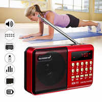 Mini Portatile Radio Portatile Digitale FM USB TF Lettore MP3 Speaker Ricaricabile